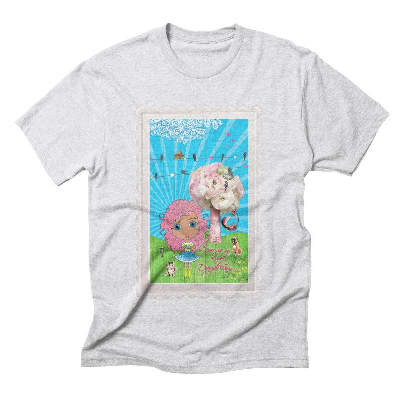 Daydreams Really Do Come True - Light Haired Version Men's Triblend T-Shirt by LittleMissTyne's Artist Shop