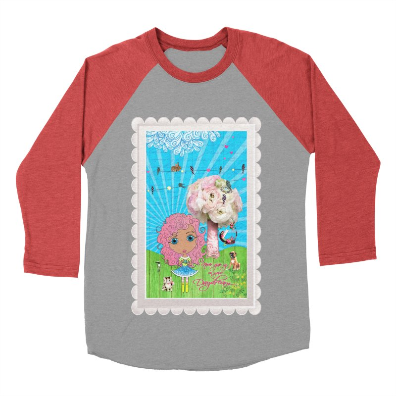 Daydreams Really Do Come True - Light Haired Version Women's Baseball Triblend Longsleeve T-Shirt by LittleMissTyne's Artist Shop