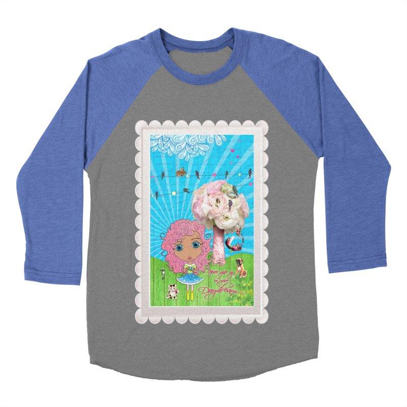 Daydreams Really Do Come True - Light Haired Version Men's Baseball Triblend Longsleeve T-Shirt by LittleMissTyne's Artist Shop