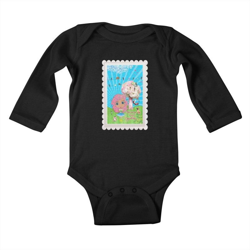 Daydreams Really Do Come True - Light Haired Version Kids Baby Longsleeve Bodysuit by LittleMissTyne's Artist Shop