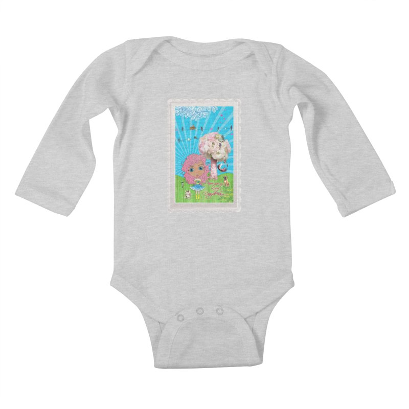 Daydreams Really Do Come True - Light Haired Version Kids Baby Longsleeve Bodysuit by LittleMissTyne's Artist Shop