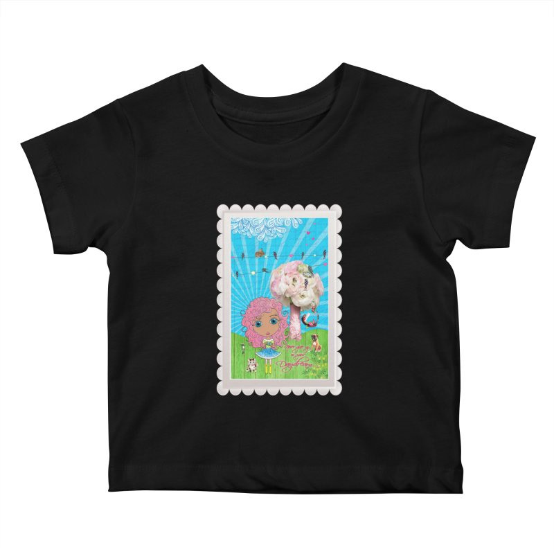 Daydreams Really Do Come True - Light Haired Version Kids Baby T-Shirt by LittleMissTyne's Artist Shop