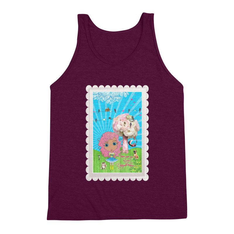 Daydreams Really Do Come True - Light Haired Version Men's Triblend Tank by LittleMissTyne's Artist Shop