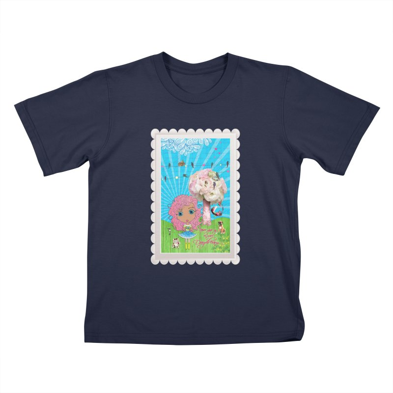 Daydreams Really Do Come True - Light Haired Version Kids T-Shirt by LittleMissTyne's Artist Shop
