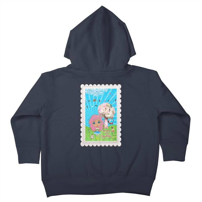 Daydreams Really Do Come True - Light Haired Version Kids Toddler Zip-Up Hoody by LittleMissTyne's Artist Shop