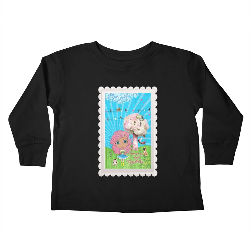 Daydreams Really Do Come True - Light Haired Version Kids Toddler Longsleeve T-Shirt by LittleMissTyne's Artist Shop
