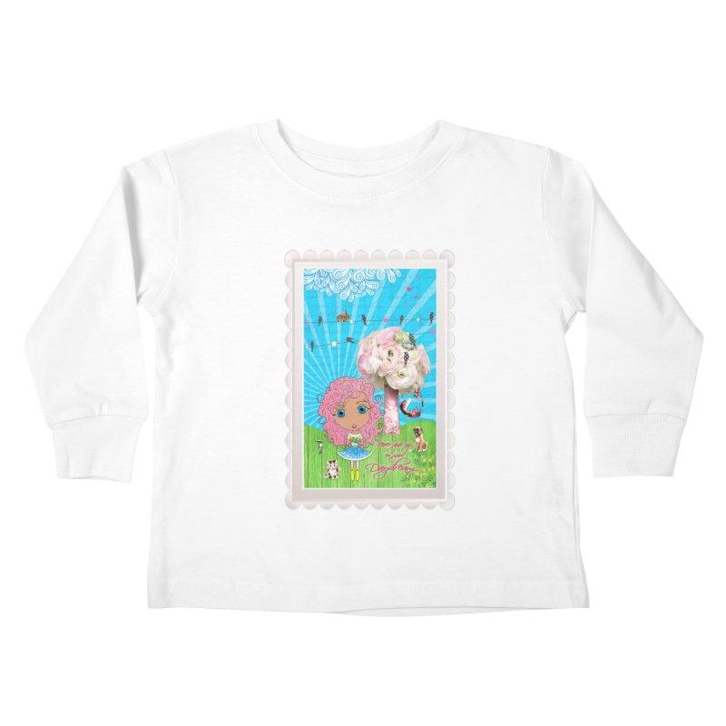 Daydreams Really Do Come True - Light Haired Version Kids Toddler Longsleeve T-Shirt by LittleMissTyne's Artist Shop