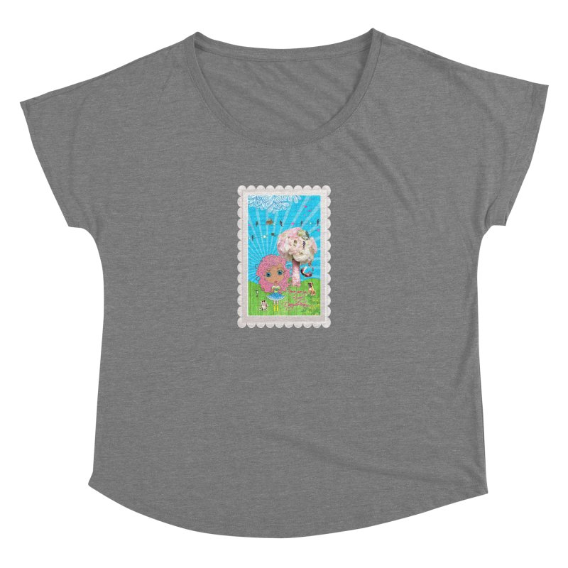 Daydreams Really Do Come True - Light Haired Version Women's Scoop Neck by LittleMissTyne's Artist Shop