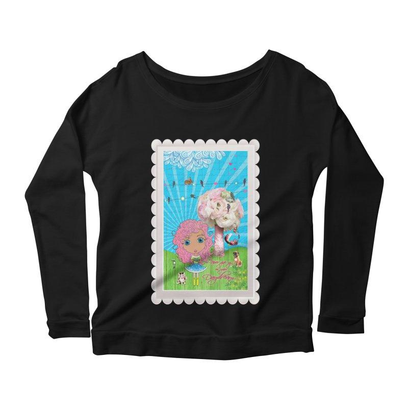 Daydreams Really Do Come True - Light Haired Version Women's Scoop Neck Longsleeve T-Shirt by LittleMissTyne's Artist Shop