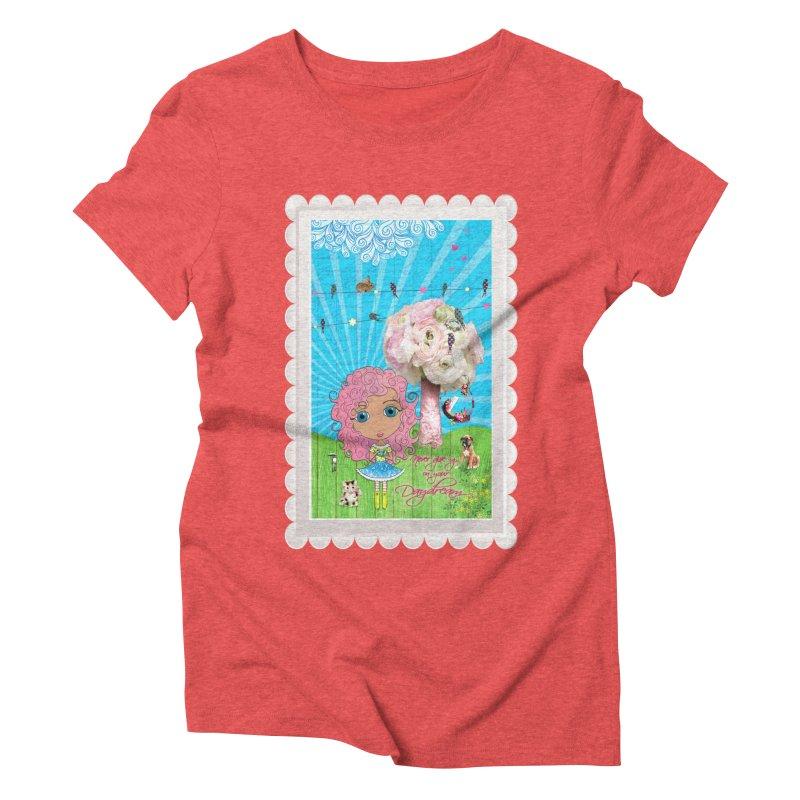 Daydreams Really Do Come True - Light Haired Version Women's Triblend T-Shirt by LittleMissTyne's Artist Shop