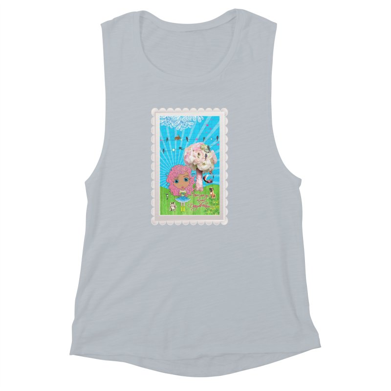 Daydreams Really Do Come True - Light Haired Version Women's Muscle Tank by LittleMissTyne's Artist Shop