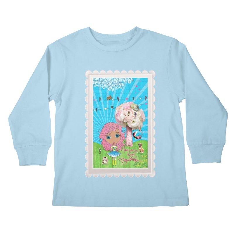 Daydreams Really Do Come True - Light Haired Version Kids Longsleeve T-Shirt by LittleMissTyne's Artist Shop