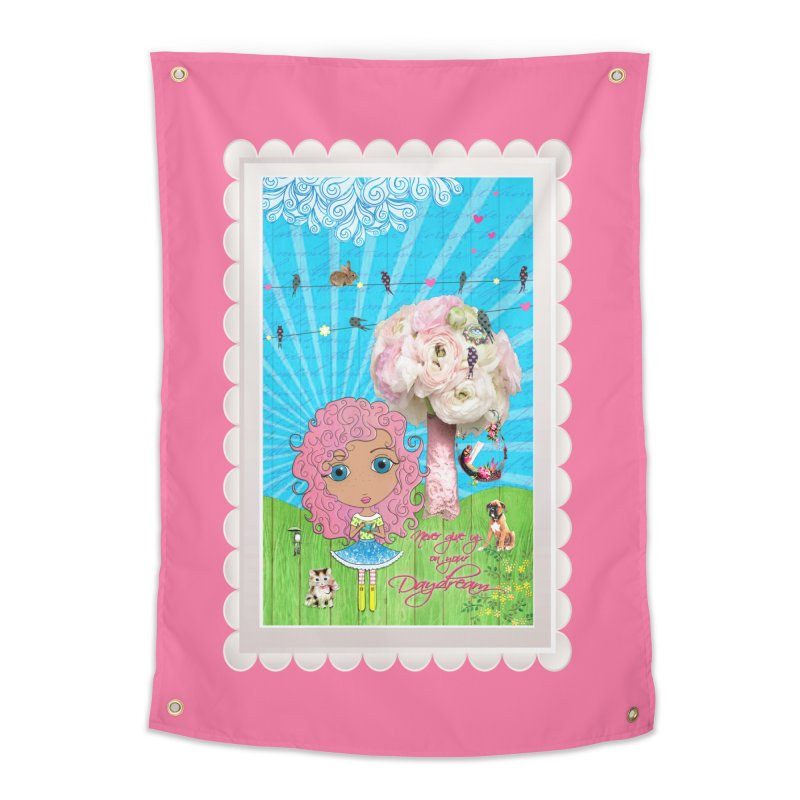 Daydreams Really Do Come True - Light Haired Version Home Tapestry by LittleMissTyne's Artist Shop