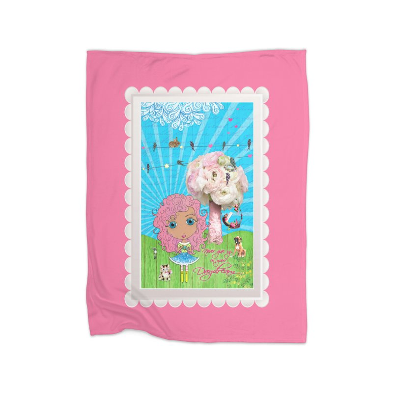 Daydreams Really Do Come True - Light Haired Version Home Blanket by LittleMissTyne's Artist Shop