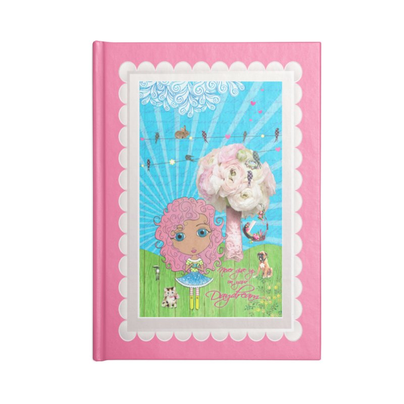Daydreams Really Do Come True - Light Haired Version Accessories Lined Journal Notebook by LittleMissTyne's Artist Shop