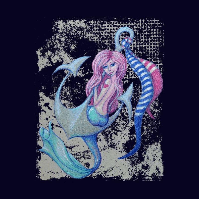 Mermaid Tattoo Men's T-Shirt by Little Miss Tyne's Artist Shop