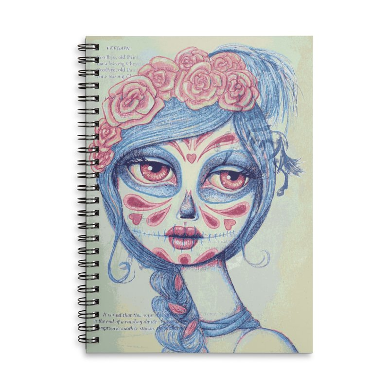 Sugar Skull Beauty #3 Accessories Notebook by Little Miss Tyne's Artist Shop