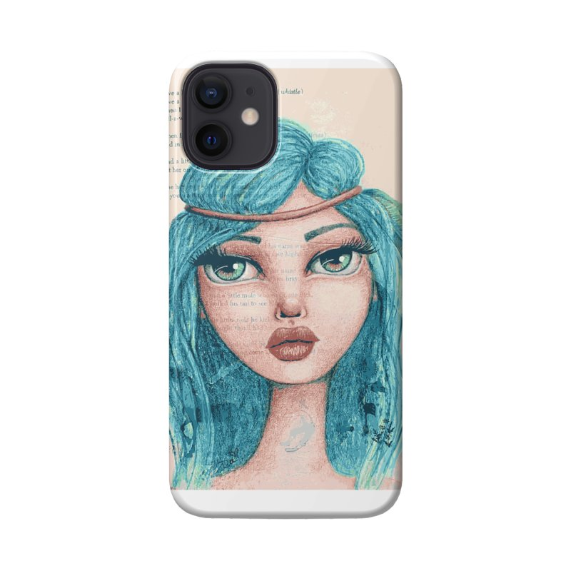 Feathers In Her Hair Accessories Phone Case by Little Miss Tyne's Artist Shop