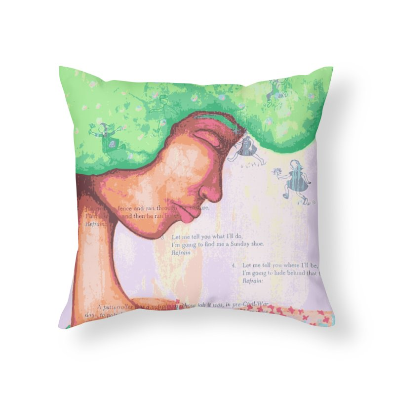 Mother of Nature Home Throw Pillow by Little Miss Tyne's Artist Shop