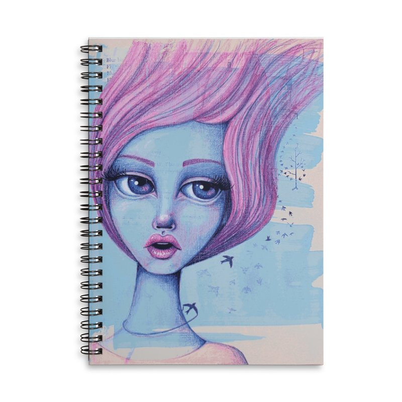 Fly Away With Me Accessories Notebook by Little Miss Tyne's Artist Shop