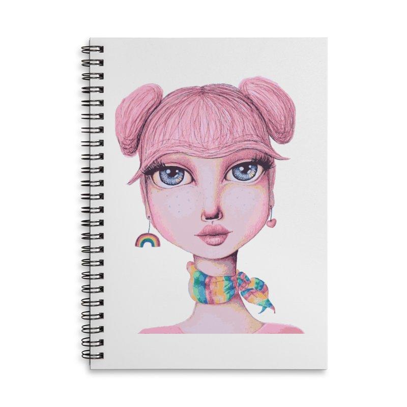 I Heart Cheer Bear Accessories Notebook by Little Miss Tyne's Artist Shop