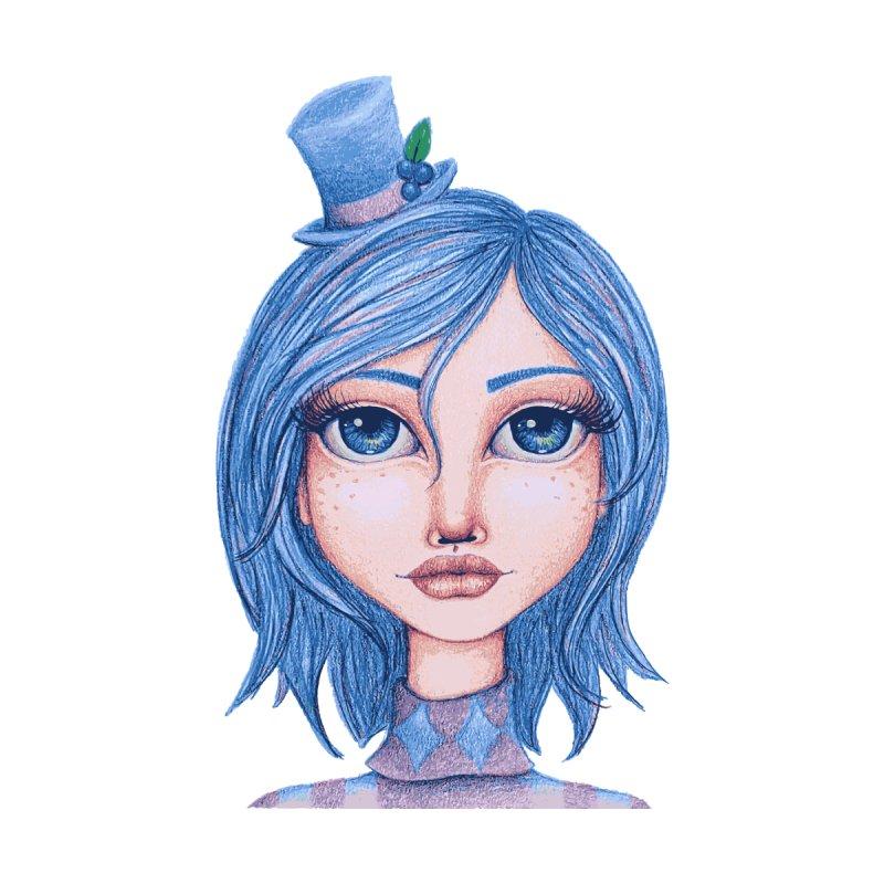 I Heart Blueberry Muffin Women's V-Neck by Little Miss Tyne's Artist Shop