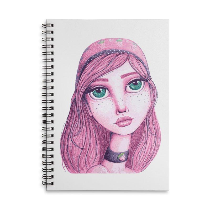 I Heart Strawberry Shortcake Accessories Notebook by Little Miss Tyne's Artist Shop