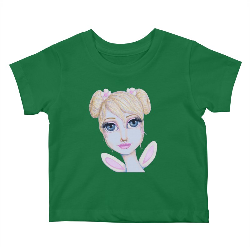 I Heart Butterbear Kids Baby T-Shirt by Little Miss Tyne's Artist Shop