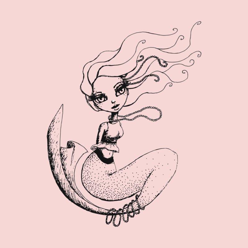 Mermaid Sketches Series: Mermaid in Pearls Men's T-Shirt by Little Miss Tyne's Artist Shop
