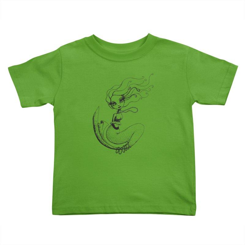 Mermaid Sketches Series: Mermaid in Pearls Kids Toddler T-Shirt by Little Miss Tyne's Artist Shop