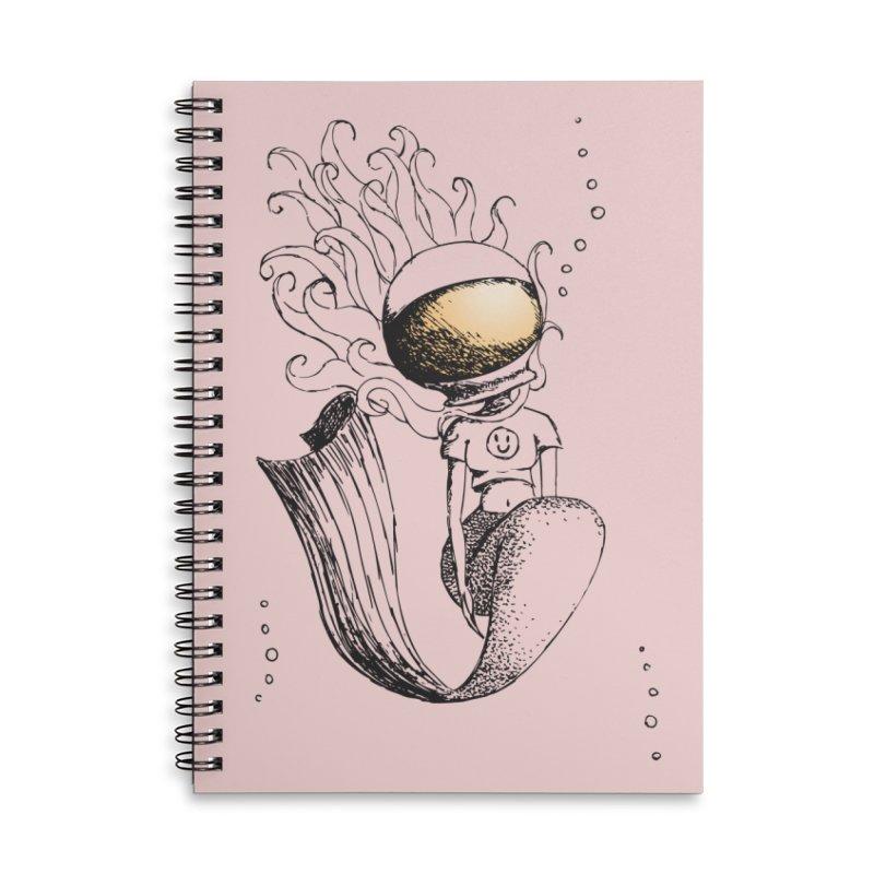 Mermaid Sketches Series: Astronaut Mermaid Accessories Notebook by Little Miss Tyne's Artist Shop