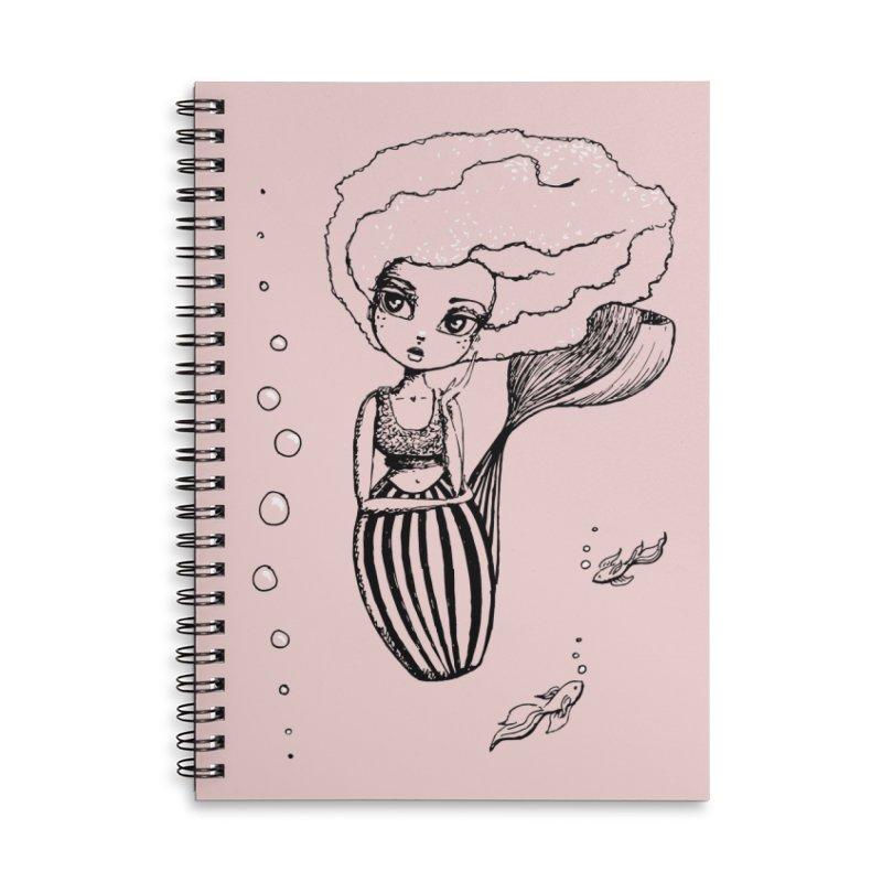 Mermaid Sketches Series: Mermaid & Fishies Accessories Notebook by Little Miss Tyne's Artist Shop