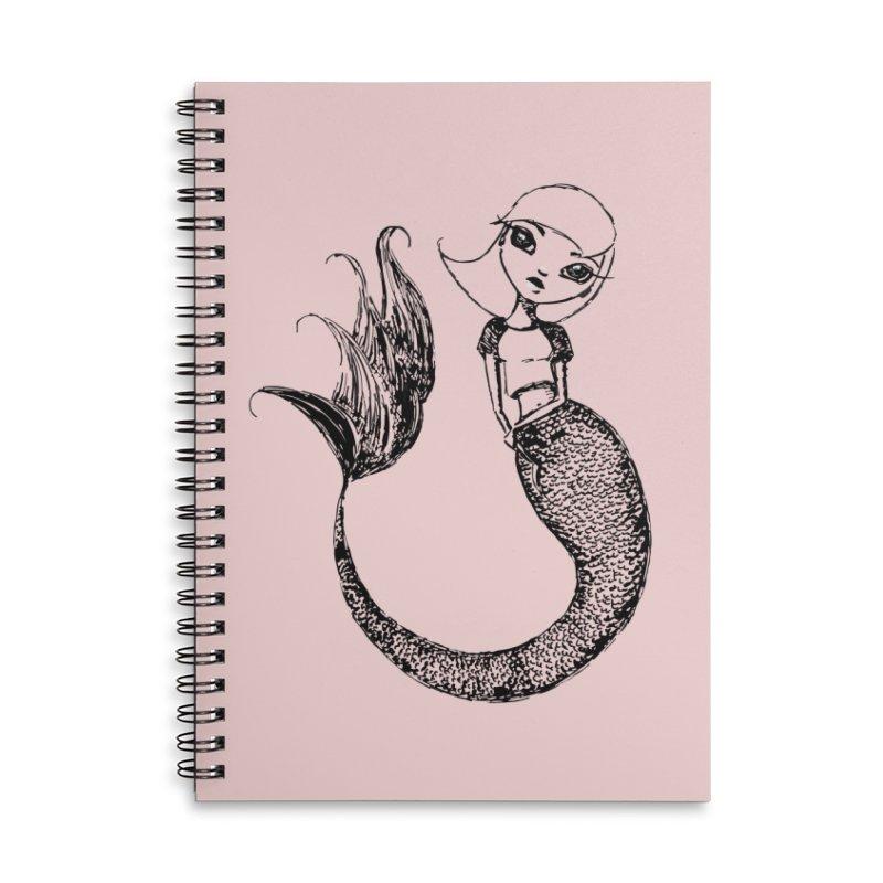 Mermaid Sketches Series: Sweet Mermaid Accessories Notebook by Little Miss Tyne's Artist Shop
