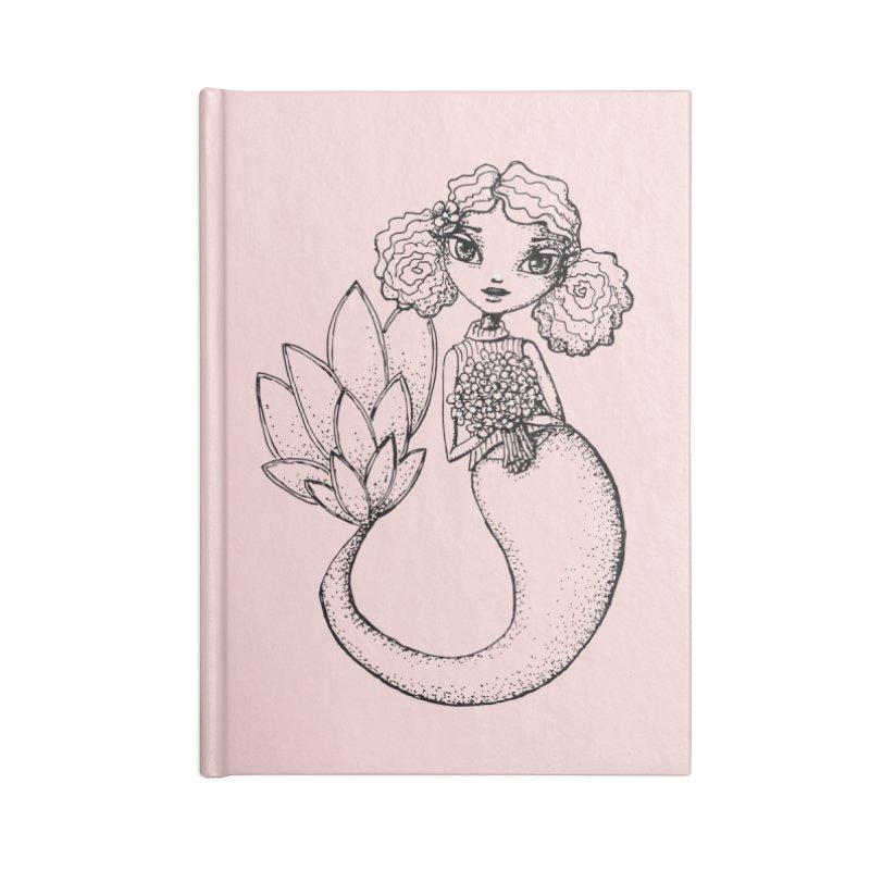 Mermaid Sketches Series: Flower Mermaid Accessories Notebook by Little Miss Tyne's Artist Shop