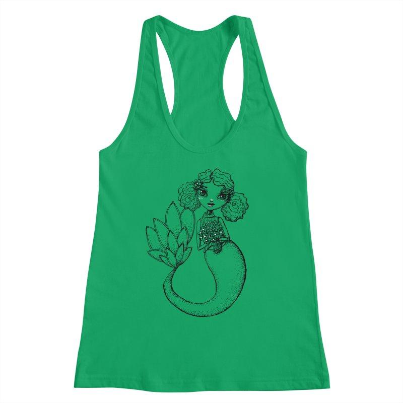 Mermaid Sketches Series: Flower Mermaid Women's Tank by Little Miss Tyne's Artist Shop