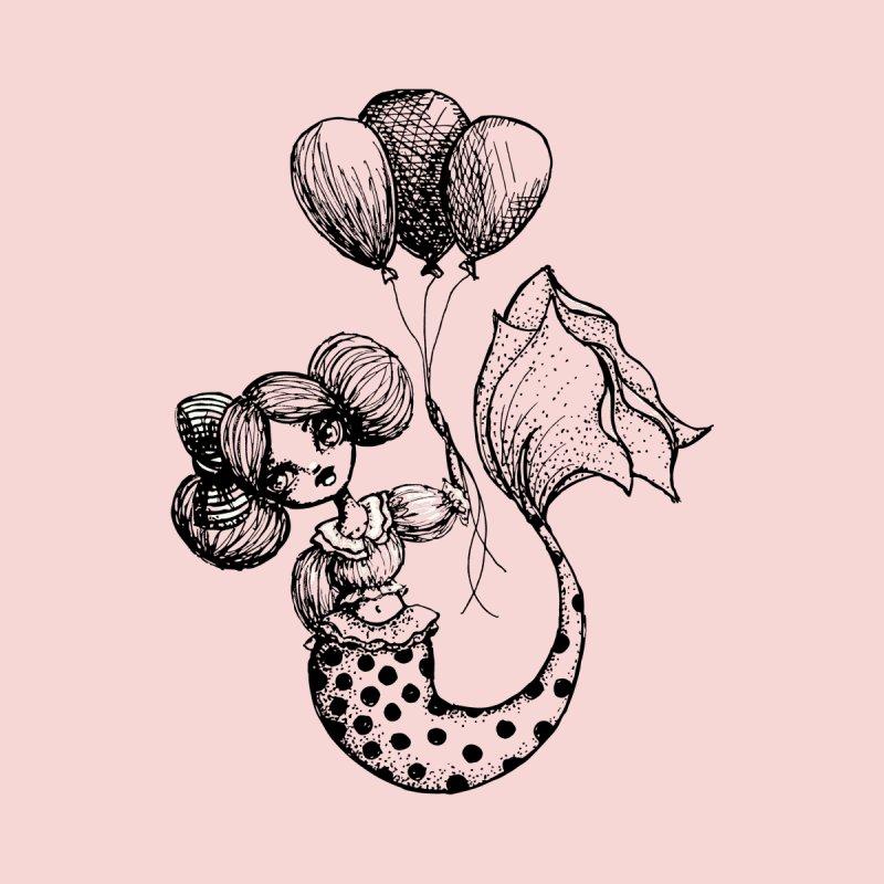 Mermaid Sketches Series: Carnival Mermaid Women's T-Shirt by Little Miss Tyne's Artist Shop