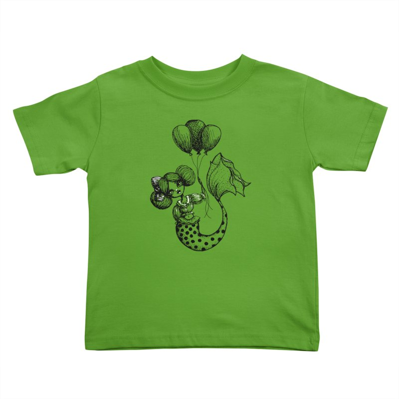 Mermaid Sketches Series: Carnival Mermaid Kids Toddler T-Shirt by Little Miss Tyne's Artist Shop