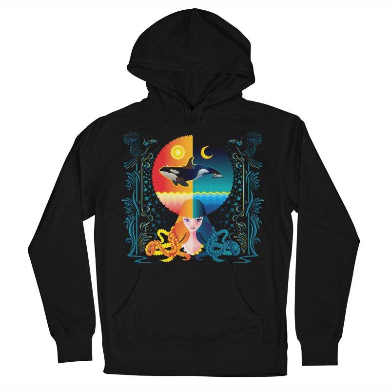Day & Night: Dream of Whale Men's Pullover Hoody by Littlebitmoar's Artist Shop