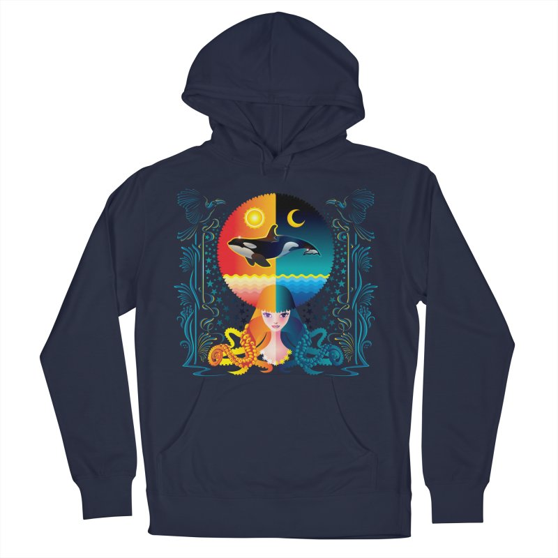 Day & Night: Dream of Whale Men's Pullover Hoody by Littlebitmoar's Artist Shop