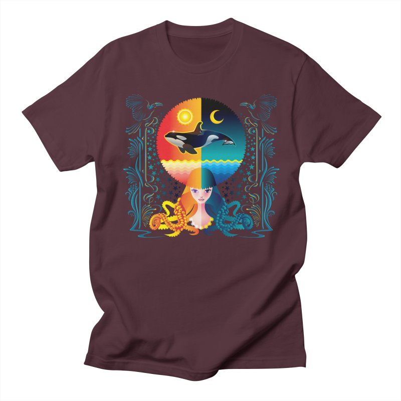 Day & Night: Dream of Whale Men's T-shirt by Littlebitmoar's Artist Shop
