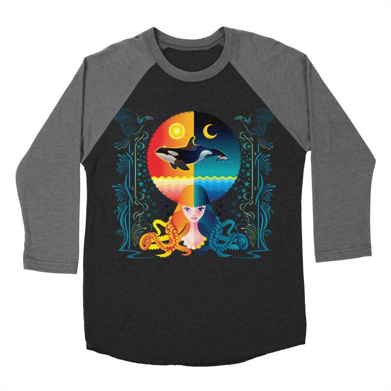 Day & Night: Dream of Whale Women's Baseball Triblend Longsleeve T-Shirt by Littlebitmoar's Artist Shop