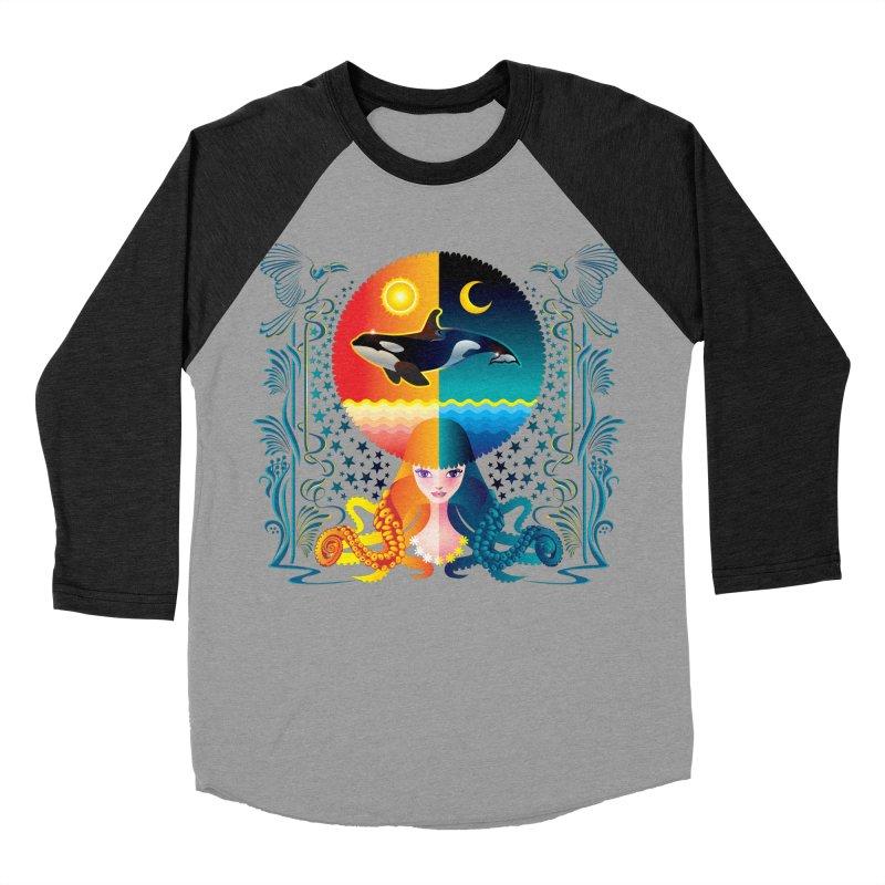 Day & Night: Dream of Whale Women's Baseball Triblend T-Shirt by Littlebitmoar's Artist Shop