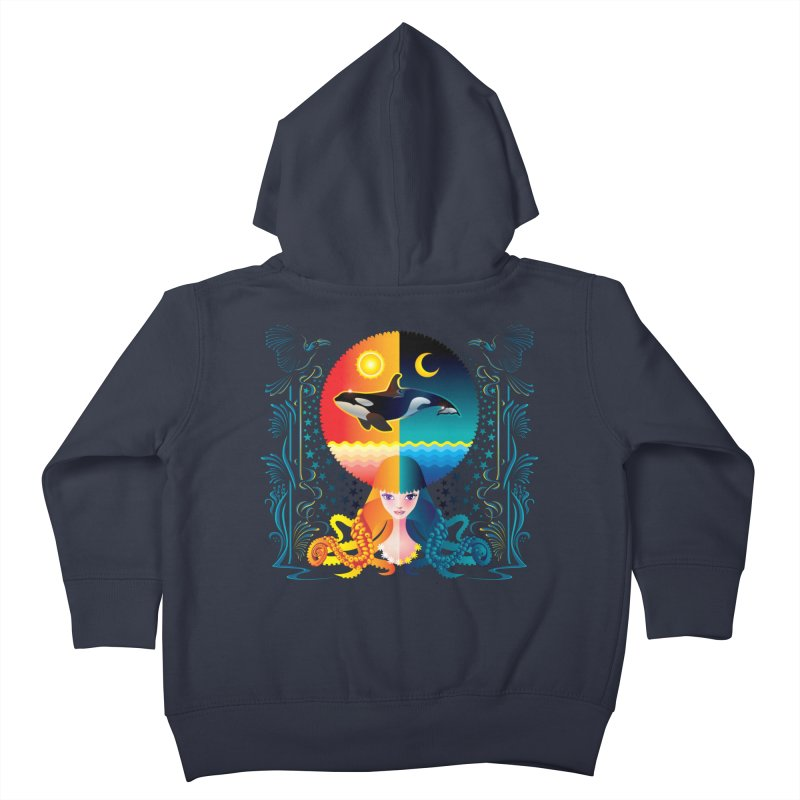 Day & Night: Dream of Whale Kids Toddler Zip-Up Hoody by Littlebitmoar's Artist Shop