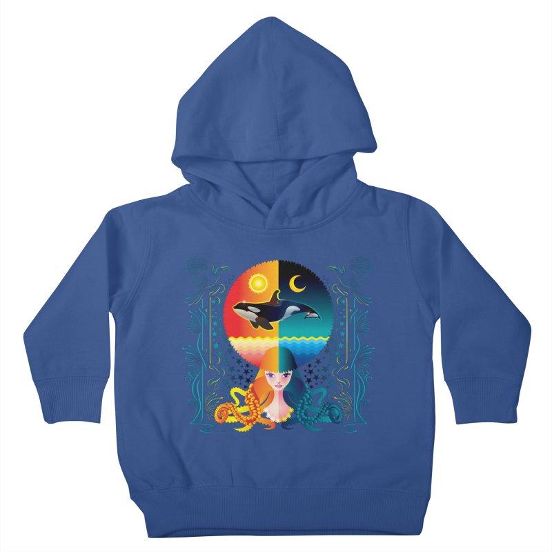 Day & Night: Dream of Whale Kids Toddler Pullover Hoody by Littlebitmoar's Artist Shop