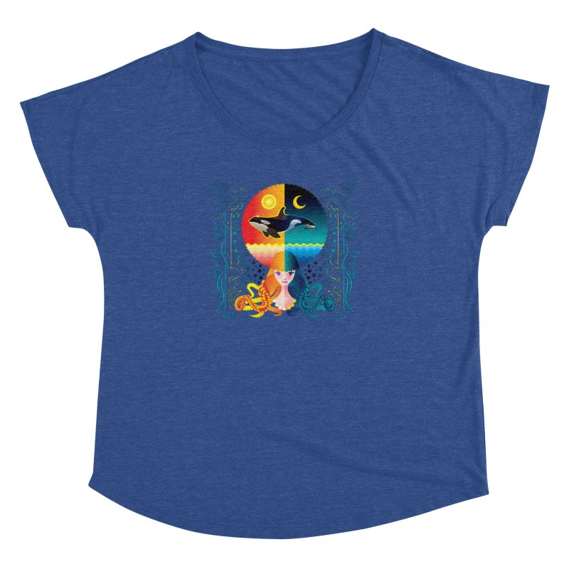 Day & Night: Dream of Whale Women's Dolman by Littlebitmoar's Artist Shop