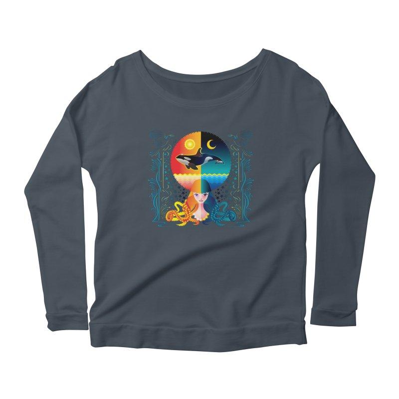 Day & Night: Dream of Whale Women's Scoop Neck Longsleeve T-Shirt by Littlebitmoar's Artist Shop