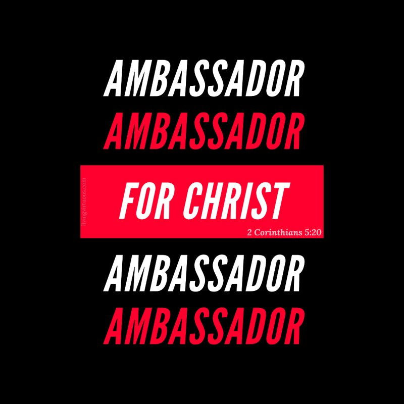 Ambassador For Christ White Letter Accessories Bag by Living Virtuous Boutique