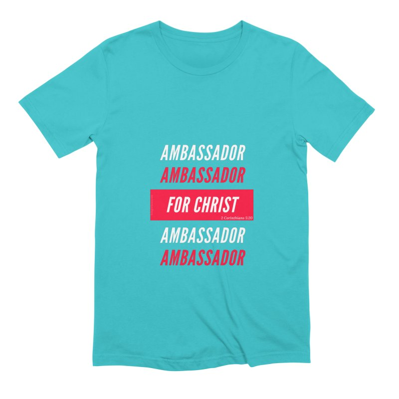 Ambassador For Christ White Letter Men's Extra Soft T-Shirt by Living Virtuous Boutique
