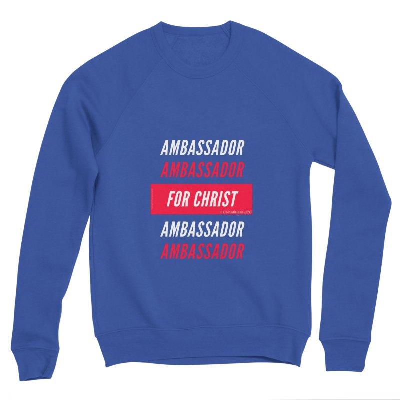 Ambassador For Christ White Letter Men's Sponge Fleece Sweatshirt by Living Virtuous Boutique