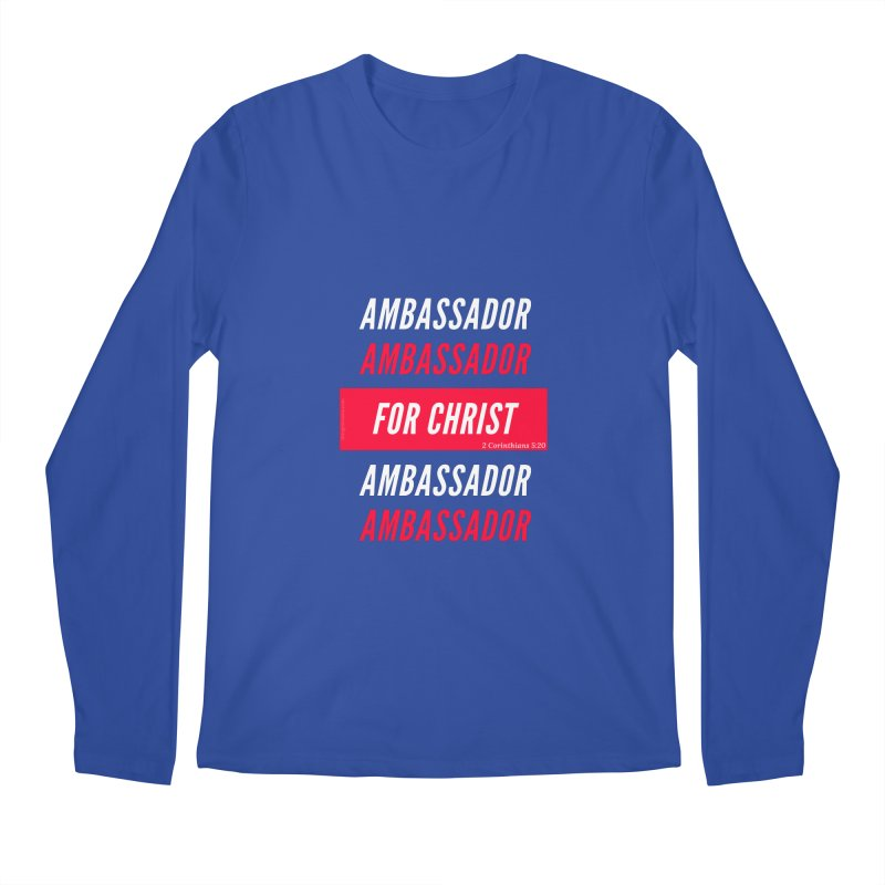 Ambassador For Christ White Letter Men's Regular Longsleeve T-Shirt by Living Virtuous Boutique